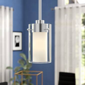 Latitude Run® Levi 1 - Light Single Cylinder Pendant & Reviews .