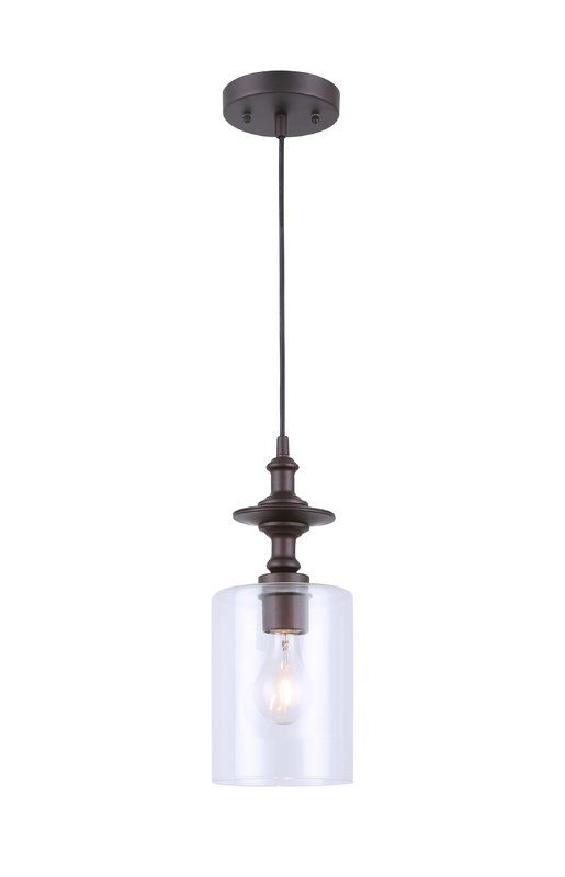 Moyer 1-Light Cylinder Pendant | Vintage bulb, Exterior light .