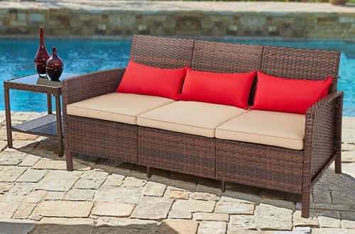 Showing Photos of Mullenax Outdoor Loveseats With Cushions (View .