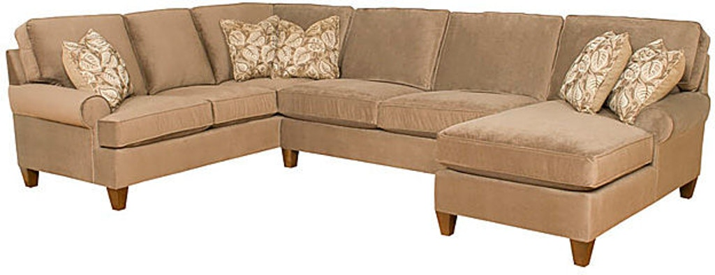 King Hickory Living Room Chatham Fabric Sectional 5900-SECT .