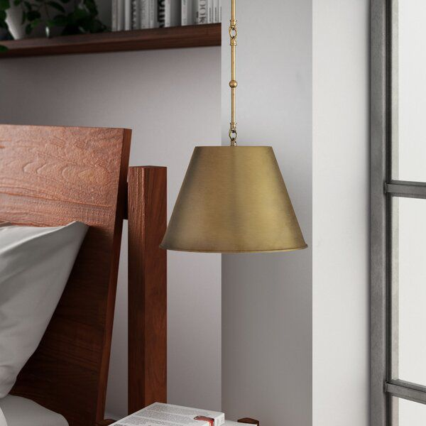 Nadeau 1-Light Single Cone Pendant in 2020 | Mid century modern .