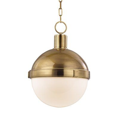 Laurel Foundry Modern Farmhouse Nadeau 1-Light Single Cone Pendant .