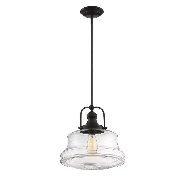 Nadine 1-Light Single Schoolhouse Pendant | Different light bulbs .