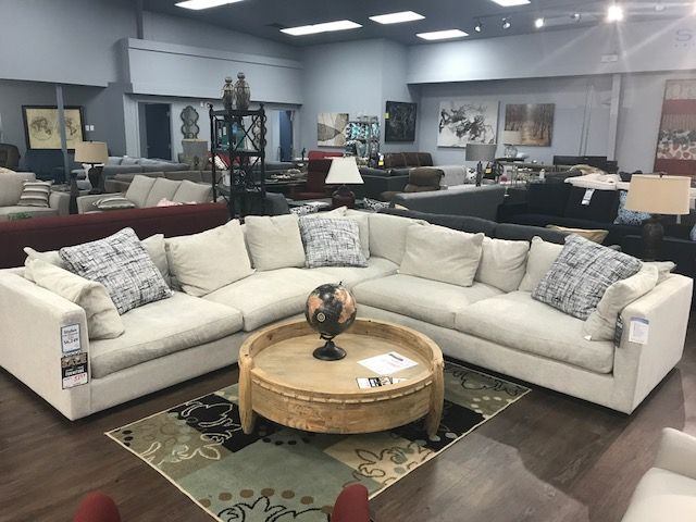 Stylus Sofas: Haze Sectional, full feather down. As shown: $5499 .