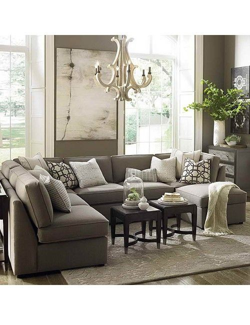 New Orleans Compater large sectional sofa in small living room .