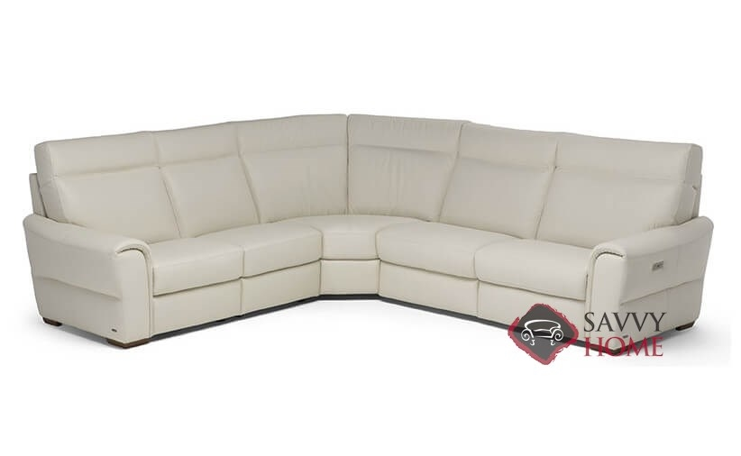 Topino Leather Stationary True Sectional by Natuzzi is Fully .