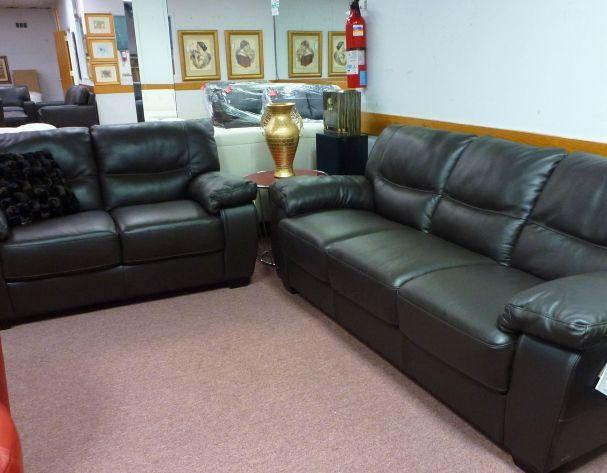 Natuzzi Black Leather sofa & Love B870 Was 5000.00 Sale $3295.00 .