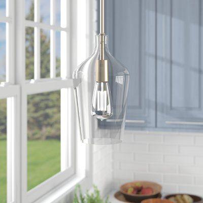 Neal 1-Light Single Teardrop Pendant | Lighting, Curved glass .