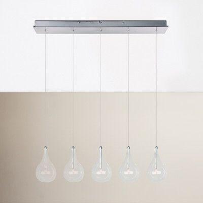Neal 5-Light Kitchen Island Teardrop Pendant | Kitchen lighting .