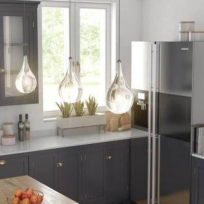 Neal 5-Light Kitchen Island Teardrop Pendant | Home decor kitchen .