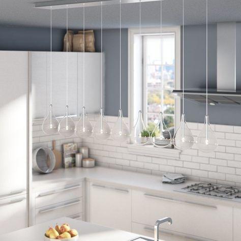 Neal 9-Light Kitchen Island Teardrop Pendant | Kitchen trends .