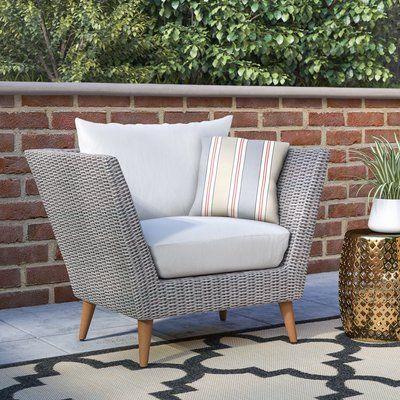 Langley Street Newbury Patio Chair with Cushions in 2020 | Patio .