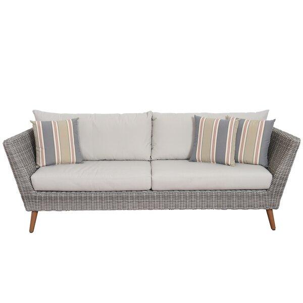 Newbury Patio Sofa with Cushions & Reviews | AllMode