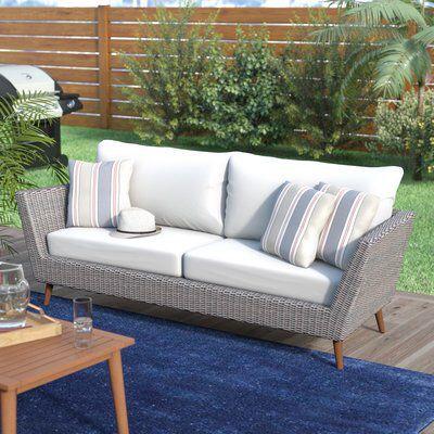 Northway Patio Sofa with Cushions | Teak patio furniture, Patio .