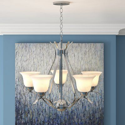 Newent 5 Light Shaded Chandeliers