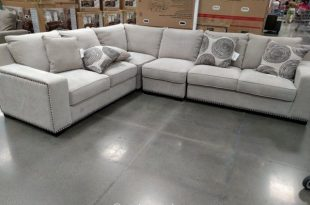 Bainbridge 4-Piece Fabric Sectional Costco | Grey sectional sofa .