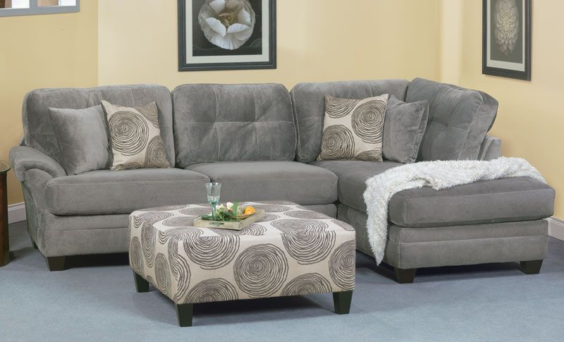 Groovy Smoke 2-Piece Sectional - Grand Home Furnishings | K6539 .