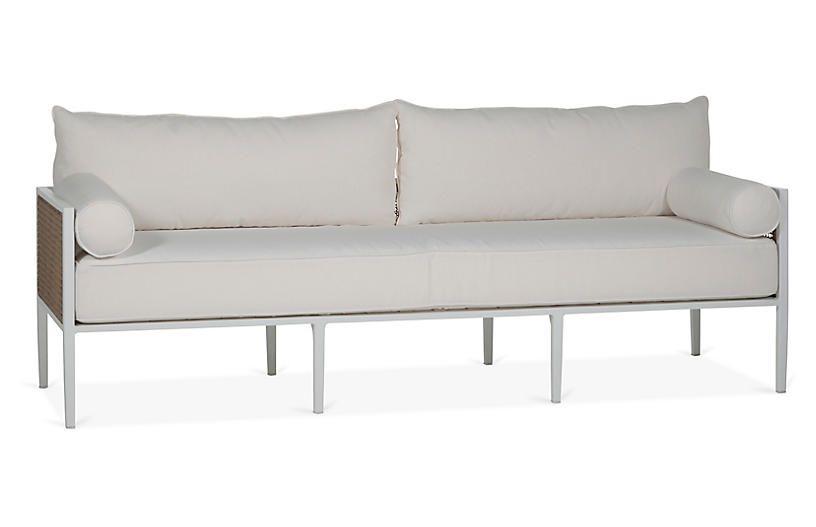 Newport Sofa, White   Outdoor sofa, White sofas, Family room desi