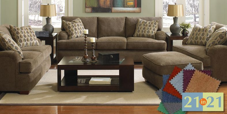 Customize a sectional, sofa, chair or ottoman at Jordan's .