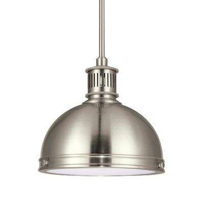 Birch Lane™ Heritage Ninette 1 - Light Single Dome Pendant | Glass .