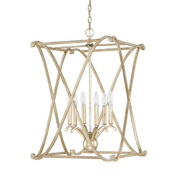Gracie Oaks Nisbet 6-Light Lantern Geometric Pendant & Reviews .