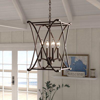 Nisbet 4 Light Lantern Geometric Pendants