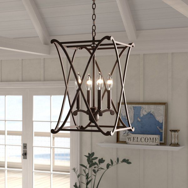 Nisbet 6 - Light Candle Style Square / Rectangle Chandelier .