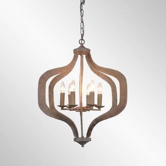 Bungalow Rose Gaertner 6-Light Lantern Geometric Pendant | Wayfa