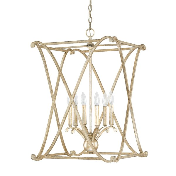 Nisbet 6 Light Lantern Geometric Pendants