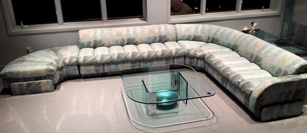 Mid Century Modern Directional Furniture Long Sectional Sofa EUC .