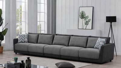 Seanna Two-Tone Grey 5 Piece Sectional Sofa HD Furniture - East .