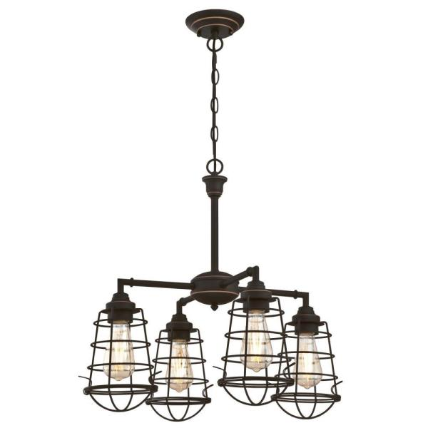 Westinghouse Nolan 4-Light Oil Rubbed Bronze with Highlights .
