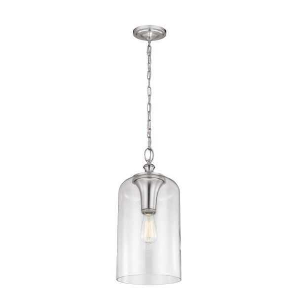 Nolan 1-Light Single Cylinder Pendant | Foyer pendant, Pendant .