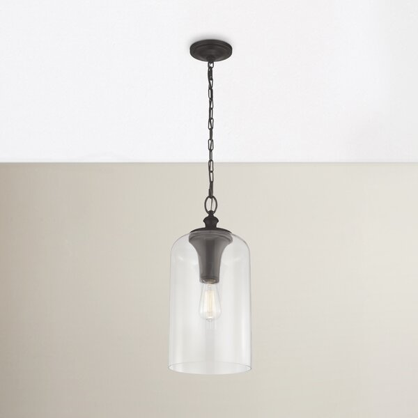 Gracie Oaks Nolan 1-Light Single Cylinder Pendant & Reviews | Wayfa