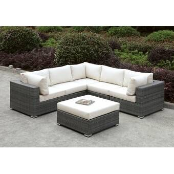 Latitude Run Nolen Patio Sectional with Cushions & Reviews .