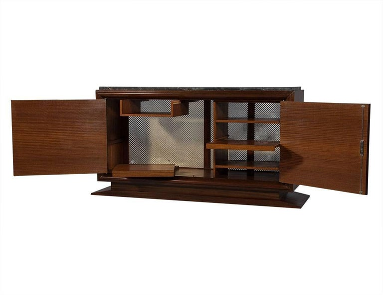 French Art Deco Makassar Ebony and Marble Sideboard at 1stdi