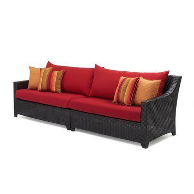 Three Posts Northridge Patio Sofa with Sunbrella Cushions Color .
