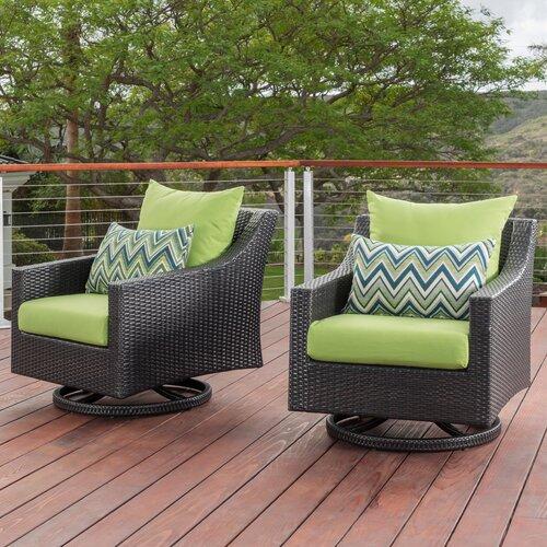 Northridge 2 Piece Swivel Patio Chair with Sunbrella Cushions .