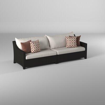 Three Posts Northridge Patio Sofa with Sunbrella Cushions Three .