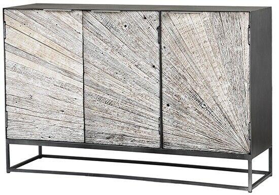 "50"" L Lowell Sideboard Steel Frame Rustic Relaimed Acacia Wood ."