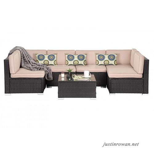 OAKVILLE FURNITURE Luxury Modern 7-Piece Outdoor Patio Garden .