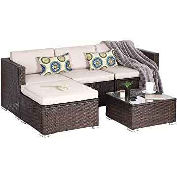 Amazon.com: OAKVILLE FURNITURE Outdoor Patio Furniture Sets Wicker .