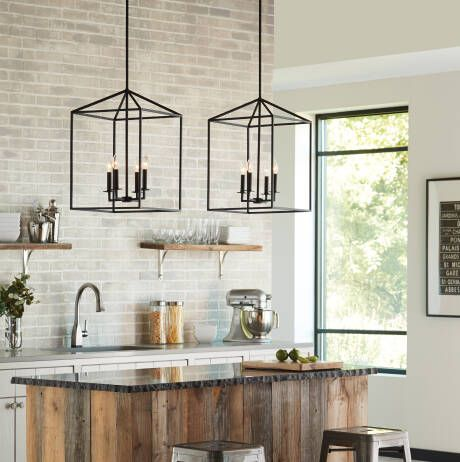 Odie 4 Light Lantern Square Pendants