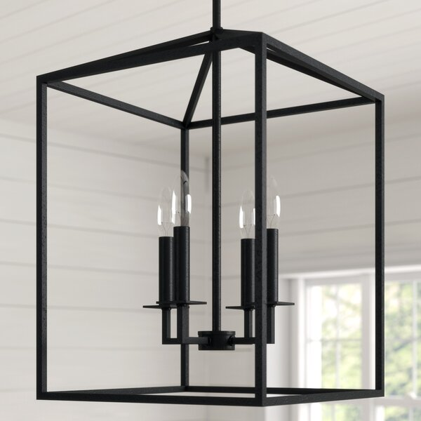 Laurel Foundry Modern Farmhouse Odie 4-Light Lantern Square .