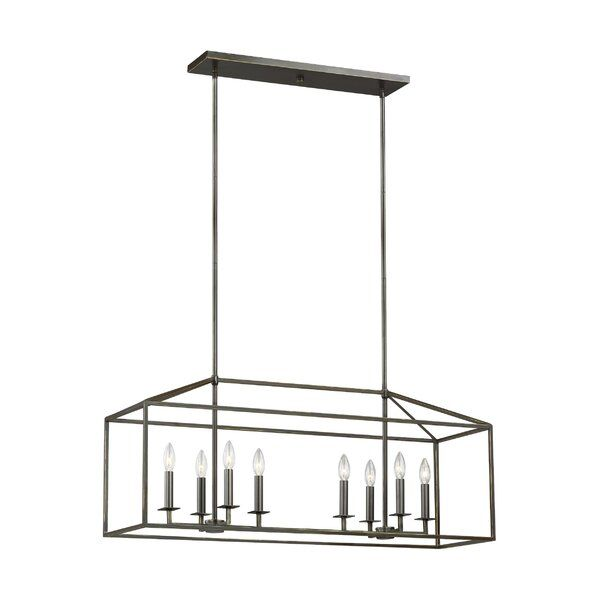 Odie 8-Light Kitchen Island Square/Rectangle Pendant .