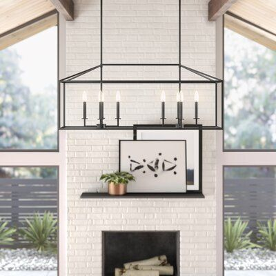 Odie 8 Light Kitchen Island Square Rectangle Pendants