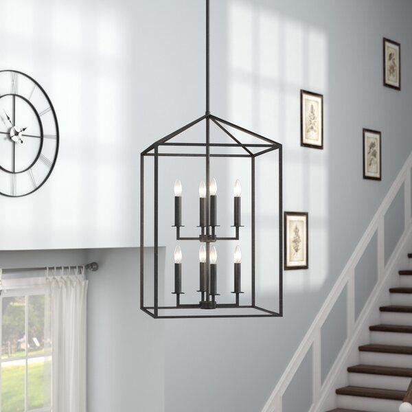 Odie 8 - Light Lantern Rectangle Chandelier | Rectangle chandelier .