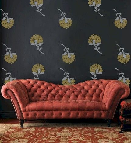 Old Fashioned Couches | Vinyl wall decals, Affordable wall decor .