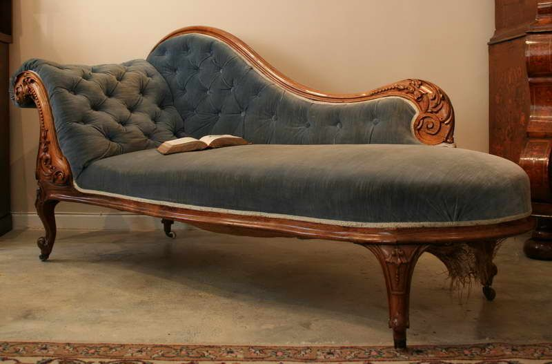 Old fashioned chaise for reading. | Chaise lounge sofa, Tufted .
