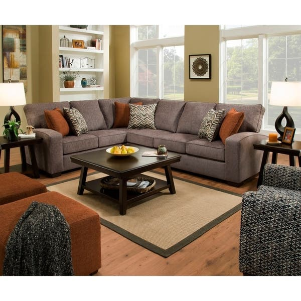Shop Simmons Upholstery Westwood Sectional Sofa - On Sale .